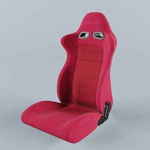 3D model BRIDE EUROSTER II Red Seat