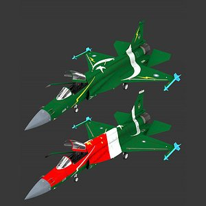 jf-17 rigged 3D