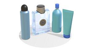 lotion shampoo cosmetic 3D