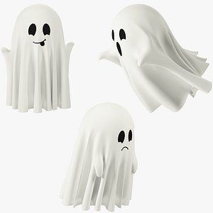 3D Funny Small Ghosts Collection V1 model