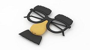 funny glasses fun model