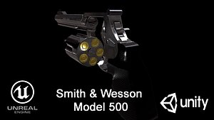 3D Smith  Wesson Model 500 model