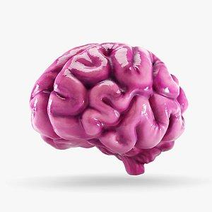 cartoon brain 3D model