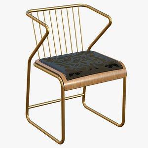 Luxury Chair Gold Modern 3D model
