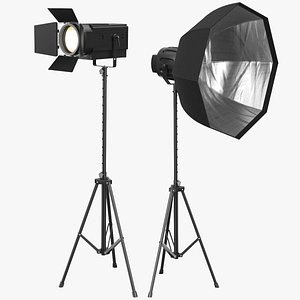 3D photo real photography lights