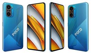 Xiaomi Poco F3 Deep Ocean Blue 3D