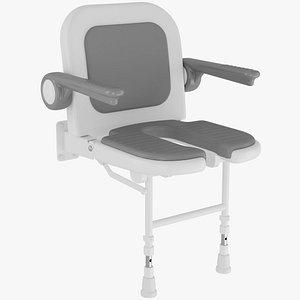 3D shower chair