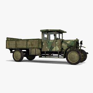 World War I transport truck 3D
