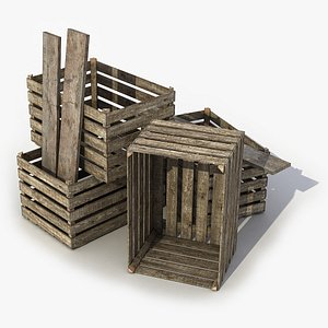 Wooden Crate 3 3D Model model
