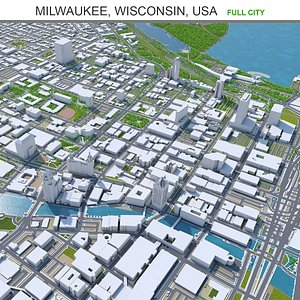 Milwaukee Wisconsin USA 3D