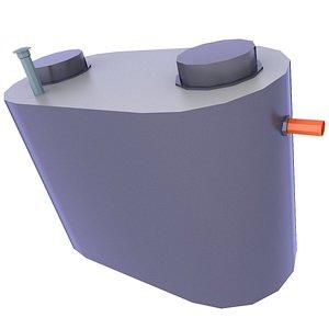 Storm Water Drainage Concrete Tank Low 17 3D model