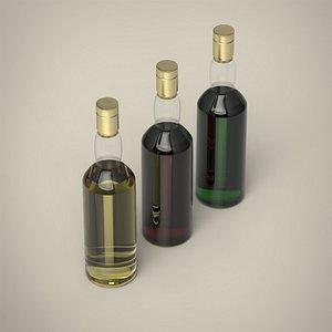 3D Whiskey bottle