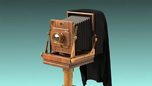 low-poly old camera 3D model