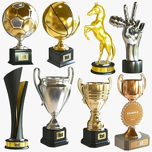 3D Big Award Cup Collection model