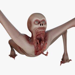3D mutant zombie