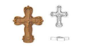 3D cross relief art model