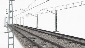Train Rail 3D model
