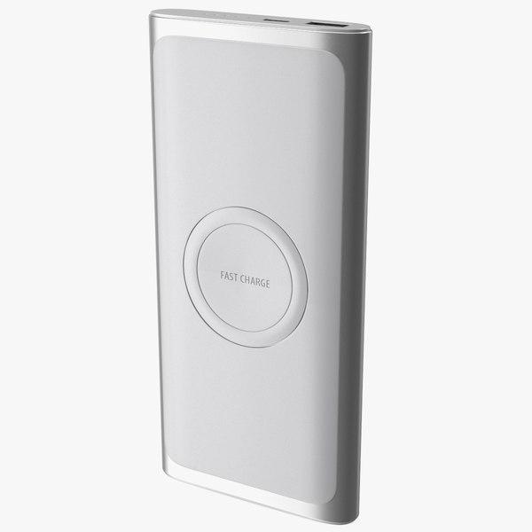 Samsung Wireless Battery Pack Silver 3D model
