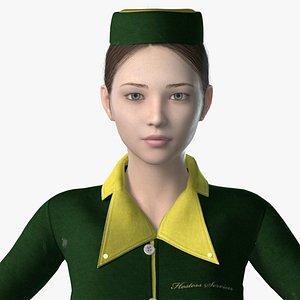 airline stewardess woman model