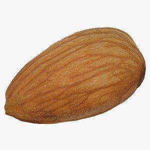 almond nut 3D