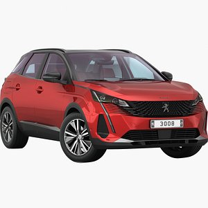 3D Peugeot 3008 2022 Low interior