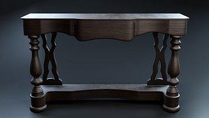 wooden retro sideboard wood 3D
