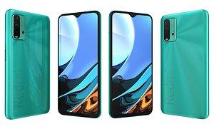 3D Xiaomi Redmi 9T Ocean Green model