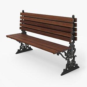 city bench pbr - model