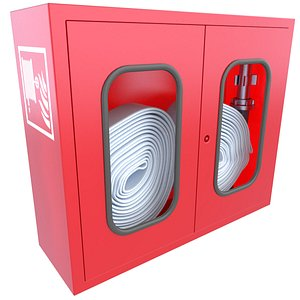 Emergency Firehose Box 3D Model 7