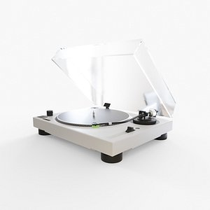 3D model Record player - White