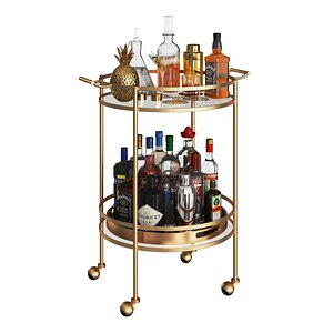 Mini Bar Beverage Table model