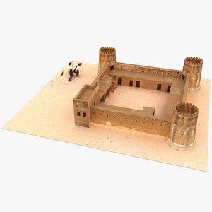 Zubara Fort Qatar 3D model