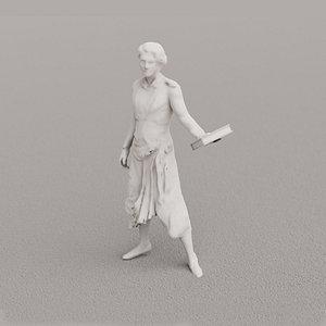 statue 3D model