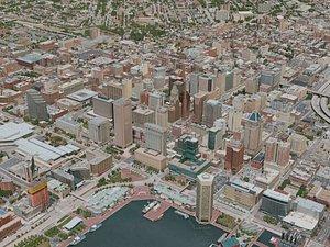 3D baltimore city