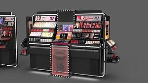 3D Cosmetic rack  Cosmetic Set model