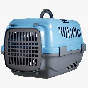 Pet Plastic Carrier Blue model