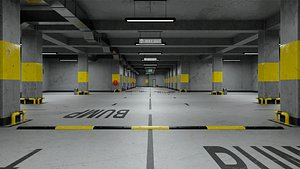 Underground Parking Scene Corona Renderer 3D