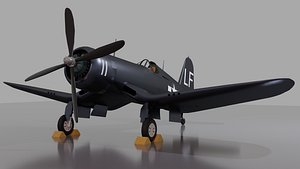 f4u fighter ww2 3D model