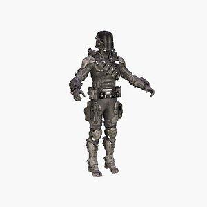 3D Assassin Soldier model