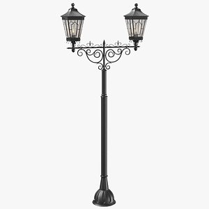 3D real street light model