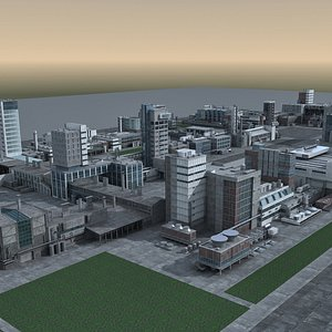 3D city building structure