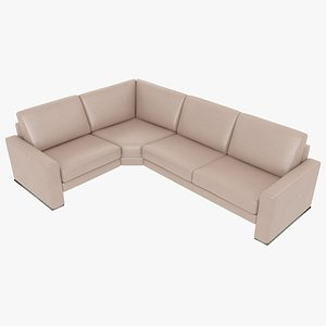 modular sofa leather 3D model
