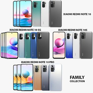 Xiaomi Redmi Note 10 Family Collection 3D