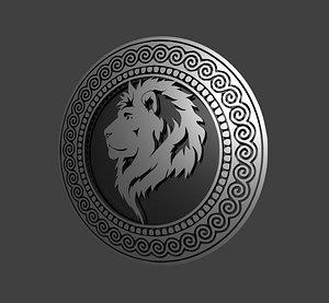 3D lion pendant