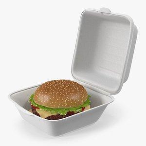 Food Box with Hamburger model