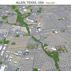 Allen Texas USA 3D model