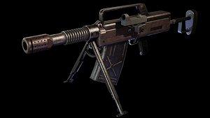 vog-17 grenade launchers 3D model