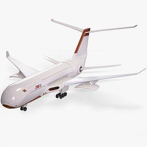 3D model sci-fi futuristic airliner