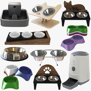 3D Pet Bowl Collection 10 in 1