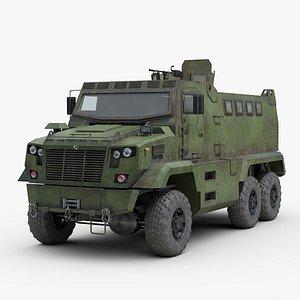 3D ukrainian kraz fiona armored truck model